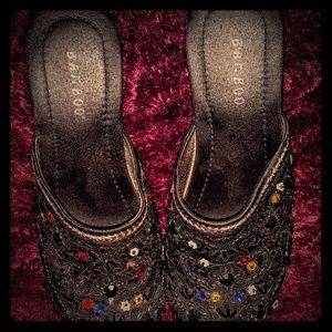 Vintage Sequined Clogs